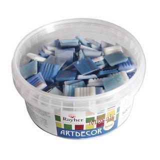 """Mosaiksteine """"ArtDecor"""" Deluxe, 2 cm, h.blau, Eimer ca. 160 Stück / 500 g"""