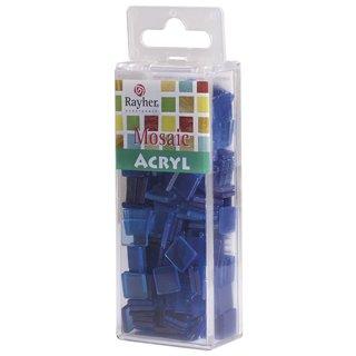 Acryl-Mosaik, 1x1 cm, transparent, azurblau, Box ca. 205 Stück / 50g