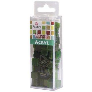 Acryl-Mosaik, 1x1 cm, transparent, jade, Box ca. 205 Stück / 50g