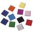 Acryl-Mosaik, 1x1 cm, transparent, bunt, Box ca. 205 Stück / 50g