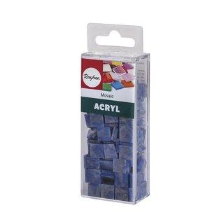 Acryl-Mosaik, 1x1 cm, marmoriert, lagune, Box ca. 205 Stück / 50g