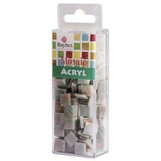 Acryl-Mosaik, 1x1 cm, marmoriert, jade, Box ca. 205 Stück / 50g