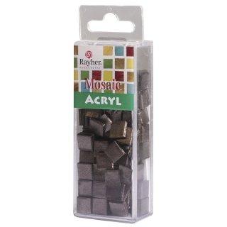 Acryl-Mosaik, 1x1 cm, Glitter, bordeaux,  Box ca. 205 Stück / 50g