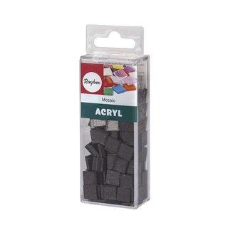 Acryl-Mosaik 1x1 cm metallic, obsidian, Box ca. 205 St./ 50 g