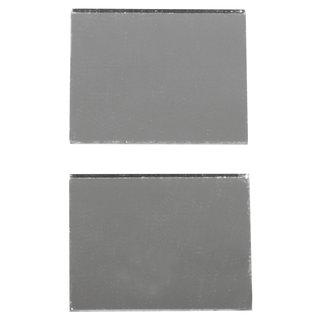 Spiegelmosaik, selbstklebend., silber, 2x1,5cm, Beutel 50 Stck.