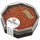 Premium-Rocailles, 2,2 mm ø, capriorange, Dose 8g, mit Silbereinzug