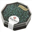 Premium-Rocailles, 2,2 mm ø, lagune, Dose 12g, mit Silbereinzug