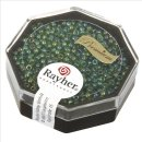 Premium-Rocailles, 2,2 mm ø, jaspis, transparent Rainbow, Dose 8g