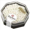 Premium-Rocailles, 2,2 mm ø, perlmutt, opak gelüstert, Dose 8g