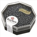 Premium-Rocailles, 2,2 mm ø, anthrazit, Dose 8g, metallic