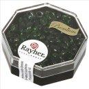 Magatama Perlen, transparent, smaragd, 4x7 mm, länglich, Dose 12g