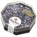 Magatama Perlen,gelüstert, Rainbow, violett hell, 4x7 mm, länglich, Dose 9g