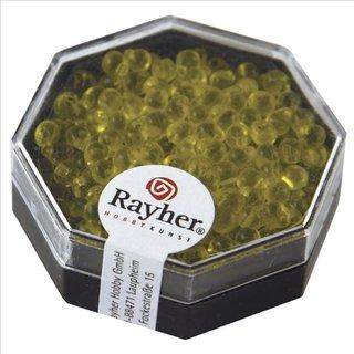 Miyuki-Perle-Drop, transparent, goldgelb, Dose 8g, ø 3,4 mm