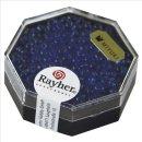 Miyuki-Perle-Drop, transparent, royalblau, Dose 12g, ø 3,4 mm
