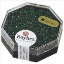 Miyuki-Perle-Drop, transparent, smaragd, Dose 12g, ø 3,4 mm
