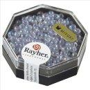 Miyuki-Perle-Drop,transparent,Regenbogen, zartlila, ø 3,4 mm, Dose 8g