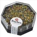 Miyuki-Perle-Drop,transparent,Regenbogen, helltopas, ø 3,4 mm, Dose 8g