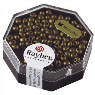 Miyuki-Perle-Drop,metallic gefrostet, kupfergold, Dose 4g, ø 3,4 mm