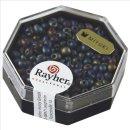 Miyuki-Perle-Drop,metallic gefrostet, regenbogen, Dose 6g, ø 3,4 mm