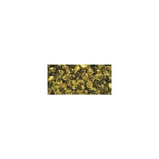Miyuki-Perle-Drop, transp. Silbereinzug, goldgelb, Dose 6g, ø 3,4 mm