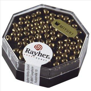 Miyuki-Perle-Drop, metallic, kupfergold, 3,4mm ø, Dose 4g