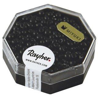 Miyuki-Perle-Drop, opak, schwarz