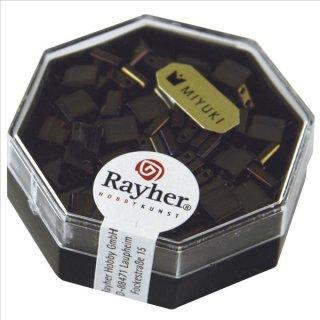 Miyuki-Perle-Tila, metallic, antikolive, Dose 6g, 5x5x1,9 mm, Doppell. ø 0,8 mm