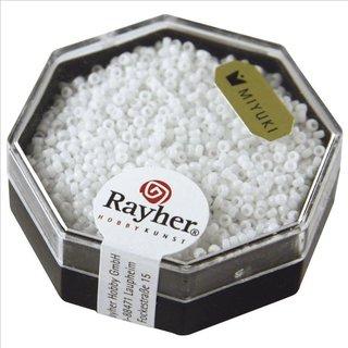 Premium-Rocailles, opak , weiß, ø 1,5 mm, Dose 5g