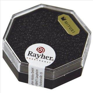 Premium-Rocailles, opak , schwarz, ø 1,5 mm, Dose 5g