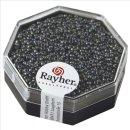 Premium-Rocailles, metallic gefrostet, anthrazit, ø 1,5 mm, Dose 4g