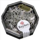 Miyuki-Glasstifte, transp., bergkristall, 6x1,7mm transp. m. Silbereinzug, Dose 8g