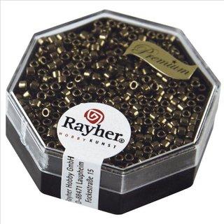 Delica-Rocailles, 2,2 mm ø, rauch topas, metallic