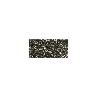 Delica-Rocailles, 2,2 mm ø, stahlgrau, metallic