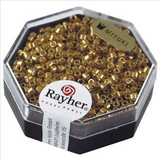 Delica-Rocailles, 2,2 mm ø, gold, metallic