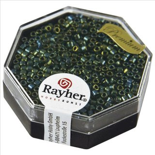 Delica-Rocailles, 2,2 mm ø, smaragd, metallic