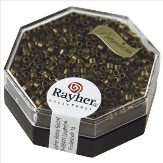 Delica-Rocailles, 2,2 mm ø, rauch topas, 4g, metallic matt