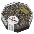 Delica-Rocailles, 2,2 mm ø, stahlgrau, 4g, metallic matt