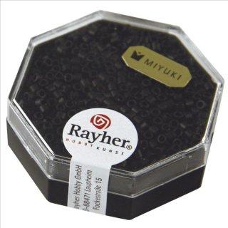 Delica-Rocailles, 2,2 mm ø, schwarz, 6g, metallic matt
