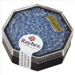 Delica-Rocailles, 2,2 mm ø, aquamarin, 9g, transparent Rainbow matt