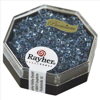 Delica-Rocailles, 2,2 mm ø, azurblau, 8g, transparent Rainbow