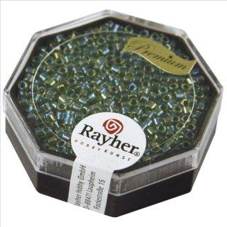 Delica-Rocailles, 2,2 mm ø, jaspis, 8g, transparent Rainbow