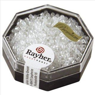 Delica-Rocailles, 2,2 mm ø, alabasterweiß, 8g, Perlglanz