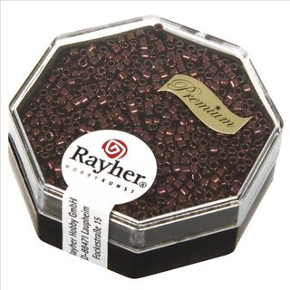 Delica-Rocailles, 1,6 mm ø metallic, bordeaux, Dose 4g