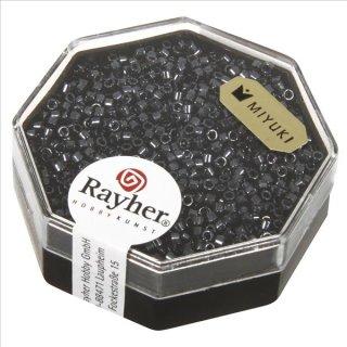Delica-Rocailles, 1,6 mm ø metallic, anthrazit, Dose 8g