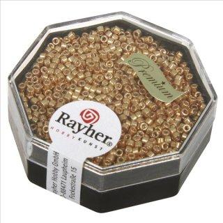 Delica-Rocailles, 1,6 mm ø metallic, gold, Dose 4g