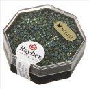 Delica-Rocailles, 1,6 mm ø metallic, smaragd, Dose 4g