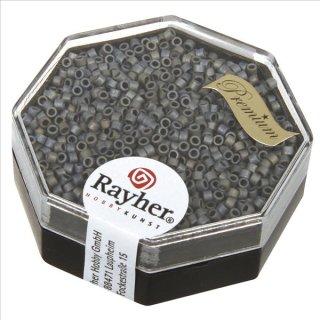 Delica-Rocailles, 1,6 mm ø metallic matt, anthrazit, Dose 6g