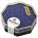 Delica-Rocailles, 1,6 mm ø,  Rainbow , royalblau, Dose 8g, transparent, matt