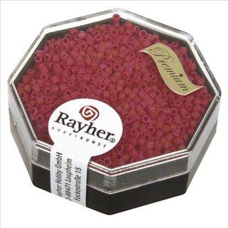 Delica-Rocailles, 1,6 mm ø , klassikrot, Dose 6g
