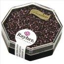 Delica-Rocailles, 1,6 mm ø , violett, Dose 6g, transparent Rainbow